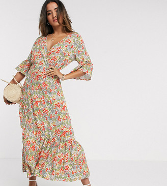 Y.A.S dress with ruffle detail slit in floral