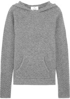 Allude Hooded Waffle-knit Wool And Cashmere-blend Sweater - Gray