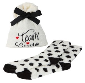 Me Moi Team Bride Cozy Women's Socks with Gift Bag, Set of 2