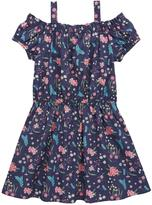 Very Off The Shoulder Floral Ditsy Print Dress