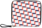 Pierre Hardy - patterned zip wallet - men - Cotton/Leather - One Size