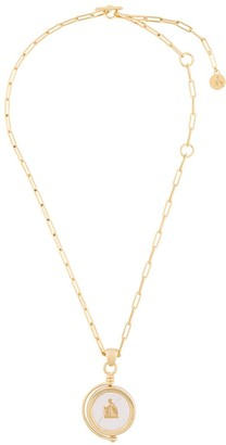 Lanvin Circle Pendant Necklace