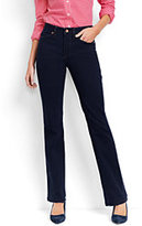 Lands' End Women's Petite Mid Rise Boot Cut Jeans-Heritage Indigo Wash