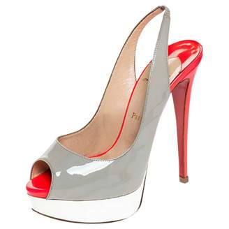 Christian Louboutin Grey Patent leather Heels
