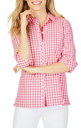 dca0bb39df2aa4 Pink Gingham Blouse - ShopStyle