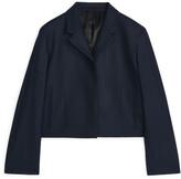Arket Cropped Wool Cashmere Blazer