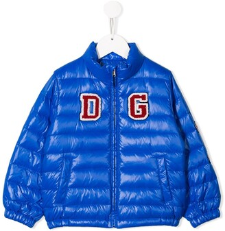 Dolce & Gabbana Kids Logo Patch Down Jacket