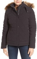 Andrew Marc Women's 'Tess' Quilted Down Jacket With Removable Faux Fur Trim Hood