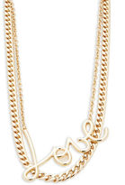 RJ Graziano Double Chain Love Necklace