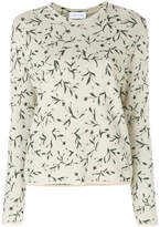 Christian Wijnants leaf print knitted top