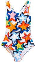 Milly Minis Stars Cross-Back One-Piece Swimsuit, Size 4-7