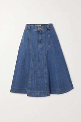 See by Chloe Denim Skirt - Mid denim