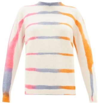 The Elder Statesman Tie-dye Cashmere Sweater - Womens - Ivory Multi