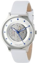 Johan Eric Women's JE1600-04-001 Orstead Round Stainless Steel Silver Sunray Dial Swarovski Crystal Watch