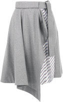 Carven asymmetric skirt - women - Silk/Polyester/Acetate/Virgin Wool - 36