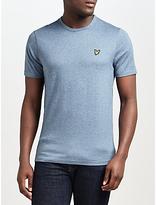 Lyle & Scott Three Colour Mouline Crew Neck T-shirt, Blue Steel
