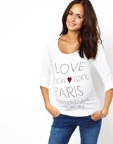 Mama Licious Maternity 'I Love' Jersey Top