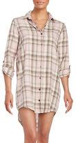 PJ Salvage Plaid Point Collar Sleepshirt