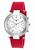 Swiss Legend Women's 'Madison' Swiss Quartz Stainless Steel and Silicone Casual Watch, Color:Red (Model: 16175SM-02-RDS)