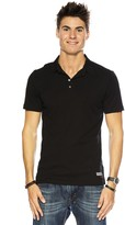 Peace Love World I am Gentleman® Black Polo Tee