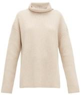 Joseph Brioche-stitched Cashmere Roll-neck Sweater - Womens - Light Beige