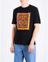 Loewe Tartan Patch cotton-jersey T-shirt