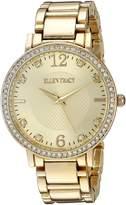 Ellen Tracy Women's ET5217GDBL Analog Display Analog Quartz Gold Watch