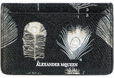 Alexander McQueen peacock feather card holder