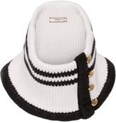 Bouchra Jarrar Striped knitted wool scarf