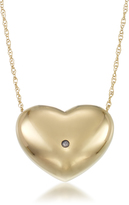 14K Gold Diamond Accented Heart Necklace by Glamour Gold