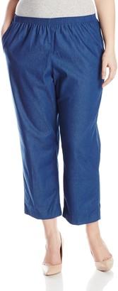 Alfred Dunner Womens Plus Short Denim Jean
