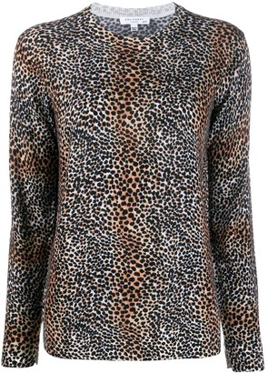 Equipment leopard print wool jumper