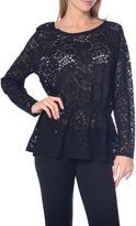 Jacqueline De Yong Women's Lace-Detailed Top