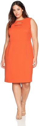 Kasper Women's Size Plus Knit Pique Dress