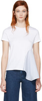 Stella McCartney White Asymmetric Combo T-Shirt