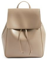 Sole Society Ivan Faux Leather Backpack - Beige