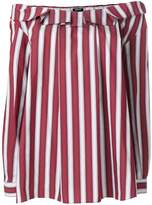 Jil Sander Navy striped off shoulder blouse