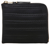 Comme des Garcons Embossed Stitch Small Zip Wallet