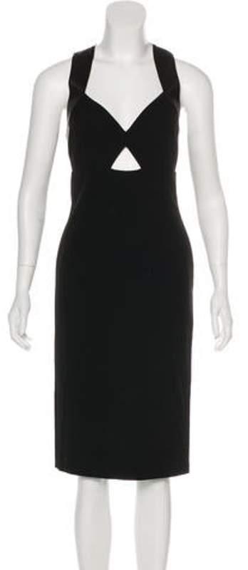 Alice + Olivia Midi Empire Dress Black Midi Empire Dress