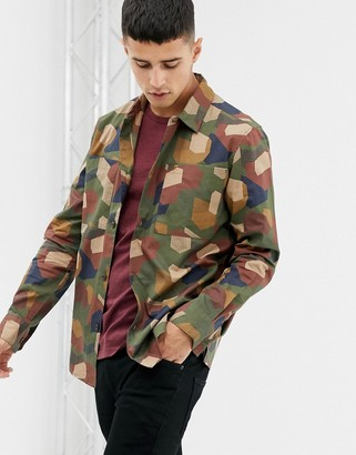 Farah Verkerk geo print shirt in green