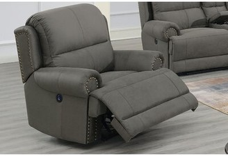 Red Barrel Studio Lucky Power Recliner Upholstery Color: Slate Blue