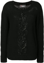 Jo No Fui sequin embellished jumper