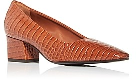 Marion Parke Women's Pierson Snake Embossed Square Toe Pumps