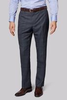 Moss Esq. Regular Fit Vintage Blue Check Pants