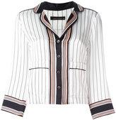 Equipment pinstripe pajama shirt