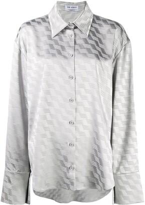 ATTICO Geometric-Print Oversized Shirt