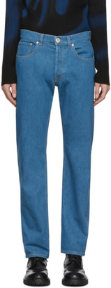 Lanvin Blue Washed Straight Jeans