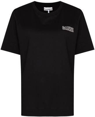 Ganni chest logo print T-shirt