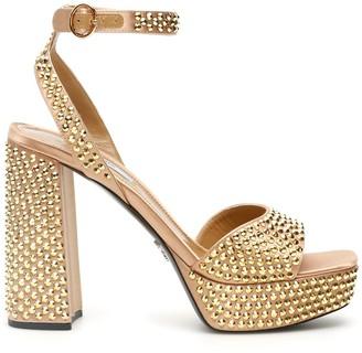 Prada Embellished Platform Sandals