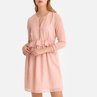La Redoute Collections Ruffled Braided Flared Dress